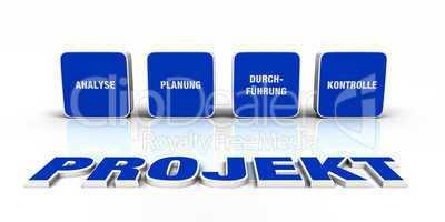 Text Konzept - 3D Projekt Blau 4