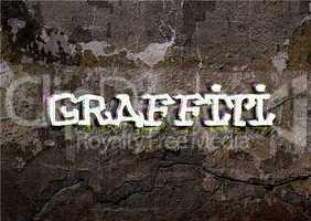 graffiti word wrote on brick wall