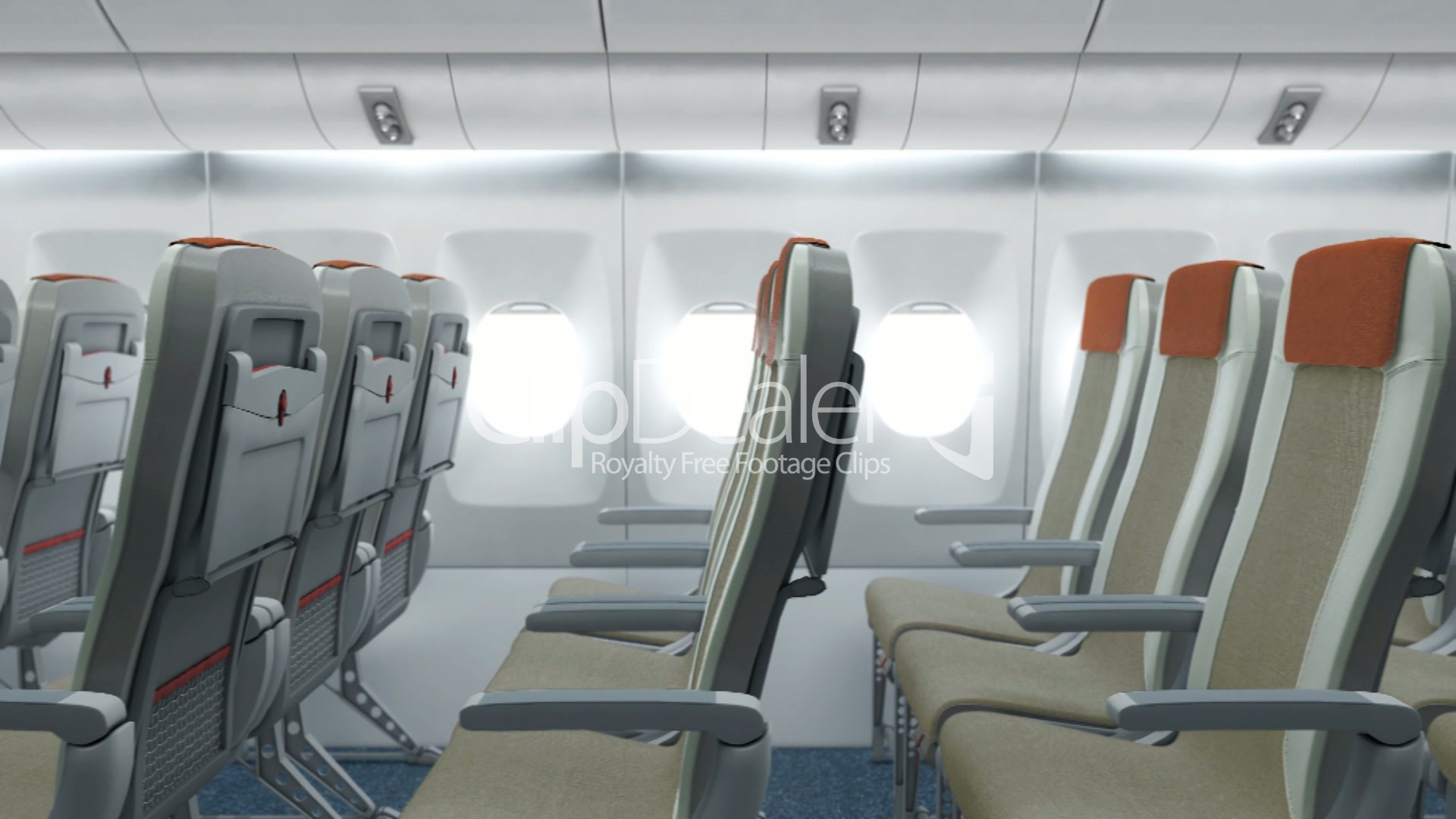 Airplane Cabin Royalty Free Video And Stock Footage