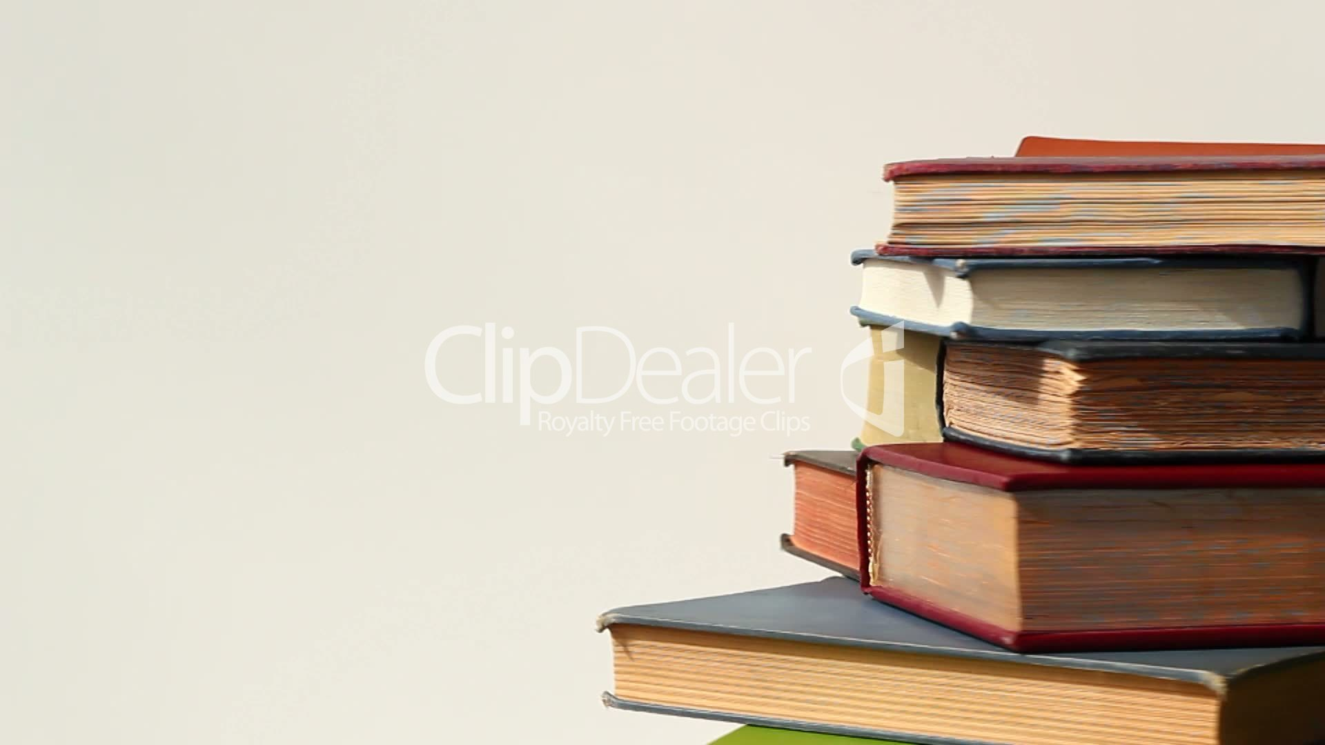 Books Stack Spinning 2: Royalty-free Video And Stock Footage