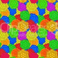 A retro floral pattern