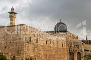 Al-Aqsa Mosque in the Old City of Jerusalem, Israel