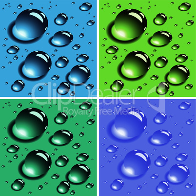 vector colorful water drops