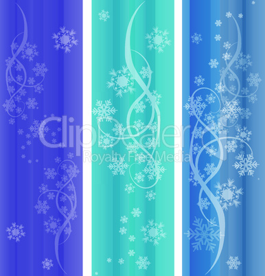 vector set of abstract winter ornaments
