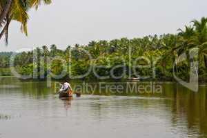 Fluss in Kerala, Indien, River in Kerala, India
