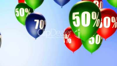 Balloons Sale Percents (Loop)