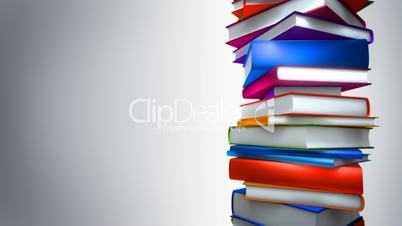 Colorful Books Stack (Loop)