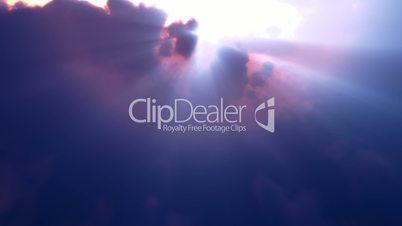 Blue Clouds Rays Flyby (Loop)