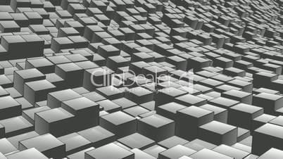 cube landscape ink