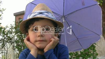 Little boy with sun hat