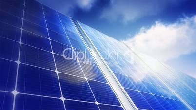 Solar Panels Sky (Loop)