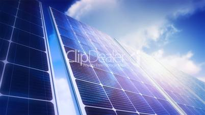 Solar Panels Sky Panorama (Loop)
