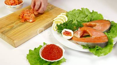 Salmon And Caviar