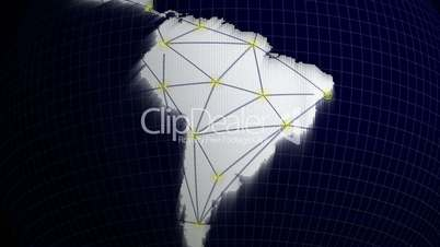 South America Network Concept - HD1080