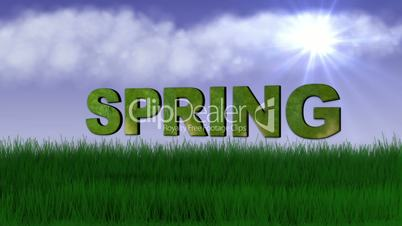 Spring Text in Nature - HD1080