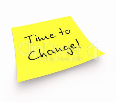 Notizzettel - Time to Change!