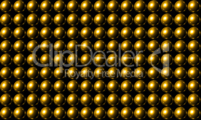 Gold Ball Grid Matrix Background