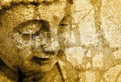 Grunge Buddha Background - Sepia Fx