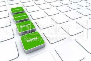 Quader Konzept Grün - Beratung Kompetenz Qualität Service 4