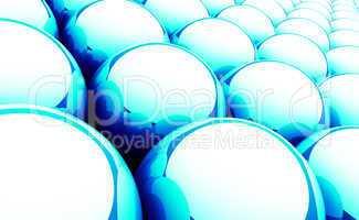 Magic Matrix Balls Background - Blue