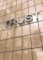 Spiegelfassade Braun - Trust Konzept