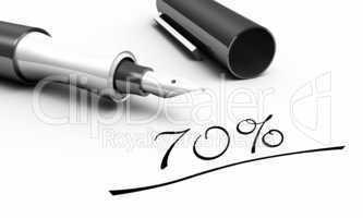 70% - Stift Konzept