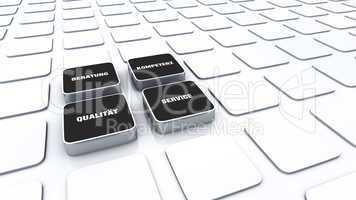 Quader Konzept Schwarz - Beratung Kompetenz Qualität Service 3