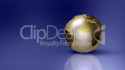 Golden Globe on blue background - Europe
