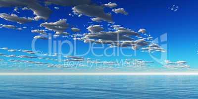 Wolken am Meer Hintergrund