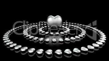 im Zentrum der Herzen - Schwarz Chrom