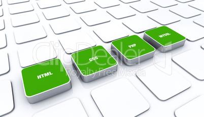 3D Pads Grün - HTML CSS PHP MYSQL 2