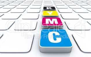 CMYK 3D Pad Symbolik