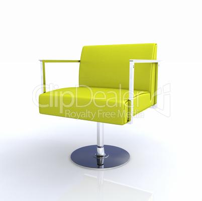 Moderner Designer Stuhl   Gelb Chrom 2
