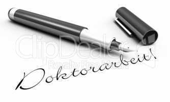 Doktorarbeit! - Stift Konzept