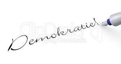 Stift Konzept - Demokratie!