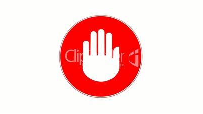 Stop - Halt Sign (Loop with Matte)
