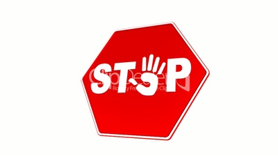 Stop - Hand Sign (Loop with Matte)