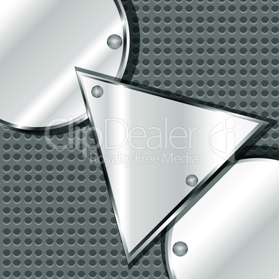 iron plate with arrow triangle pattern. vector frame