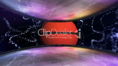 Basket Ball in Room and Monitor 5 - HD1080