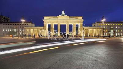 Brandenburger Tor Timelapse 1080p HD (Brandenburg Gate), famous landmark in Berlin, Germany
