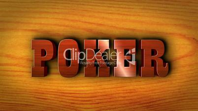Poker Text on Wood Table - HD1080