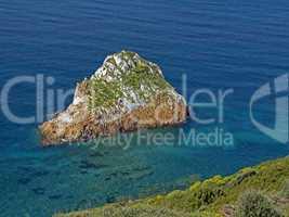 Felsen bei Masua im Südwesten Sardiniens