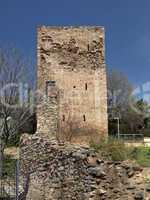 Iglesias mit Türmen des Castello Salvaterra, Sardinien