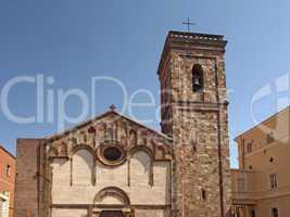 Der Dom von Iglesias (Cattedrale di Santa Chiara) an der Piazza Municipio (Rathausplatz), Sardinien