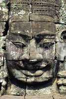 Closeup of Khmer Buddha Head