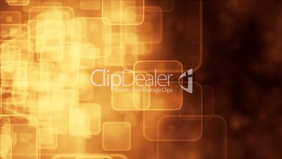 Motion background with animated squares, gold tint