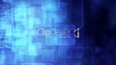 Motion background with animated squares, blue tint