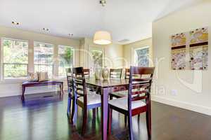 Bright modern large home with dining room area.