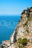 Cliff on the Amalfi Coastline