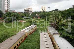 Trains in Yangon